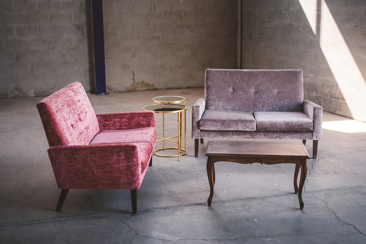 Awe Inspiring Love Seat Sofa Set Grey Dusty Pink Sofas Coffee Table Onthecornerstone Fun Painted Chair Ideas Images Onthecornerstoneorg